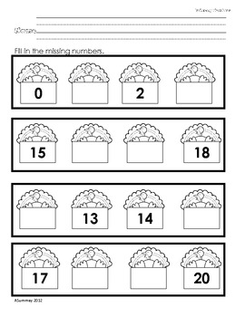 Common Core Turkey Themed Math - Ordering numbers and Counting to 20