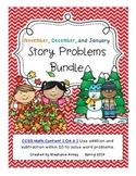 CC -  Math Word Problems - November, December, January Bundle