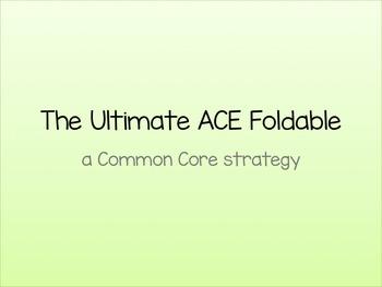 Common Core Ulitmate ACE Strategy Foldable