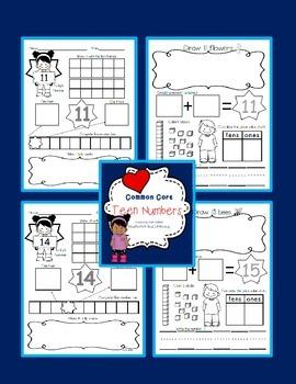 Common Core Math {Understanding Teen Numbers 11 to 20}