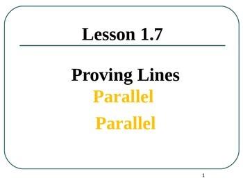 Common Core Unit 1.1 Geometry proving parallel lines