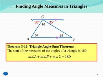 Common Core Unit 1.1 Geometry triangle sum theorem