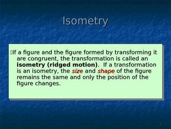 Common Core Unit 1.2 Geometry Transformations