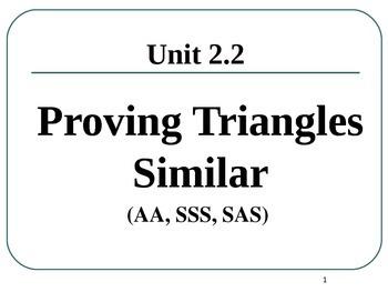 Common Core Unit 2.1 Geometry