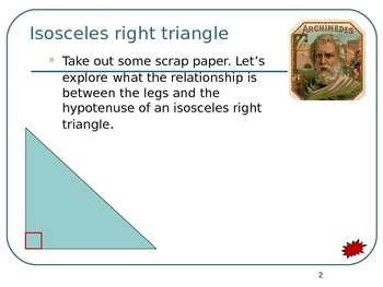 Common Core Unit 3.1 Geometry Special Right Triangles