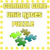 Common Core - Unit Rate Puzzle - Rates, Ratios, Unit Rates