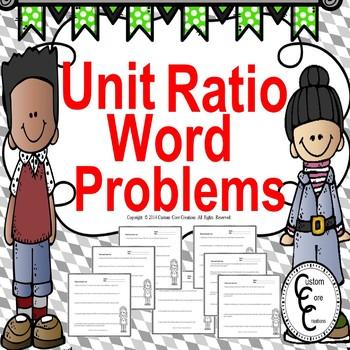 Common Core Unit Ratio Word Problems
