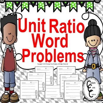 Common Core Unit Ratio Word Problems