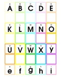Common Core Upper and Lower case Letter Match for Pre-K and Kindergarten