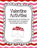 Common Core Valentine Activities