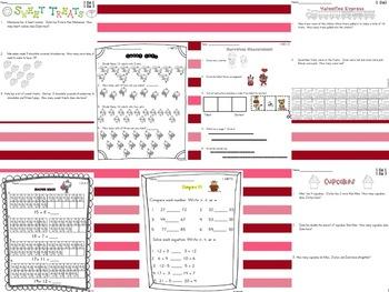 Common Core Valentine *First Grade Math*