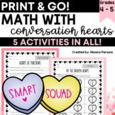 Valentine Math With Conversation Hearts