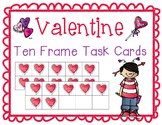 Valentine's Day Addition Ten Frame Task Cards