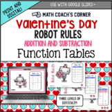 Common Core: Valentine's Day Robot Rules! Addition & Subtr