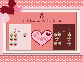 Common Core Valentine's Interactive Addition Game