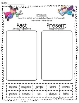 Common Core Verb Activities Packet