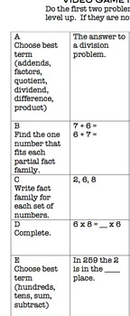 Common Core Video Game Math Topic 8 Division and Review