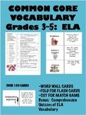 Common Core Vocabulary 3-5:  English Language Arts
