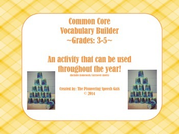 Common Core Vocabulary Builder: Grades 3-5