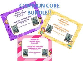 Common Core Vocabulary Builder K-8 BUNDLE