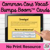 Common Core Vocabulary BOOM CARDS™ Flashcards No Print Spe