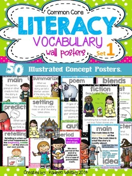 Common Core Vocabulary Concept Posters LA