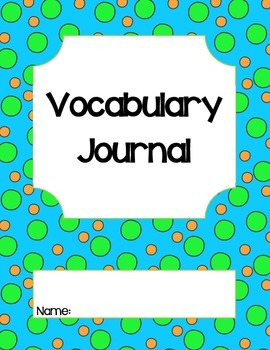 Common Core Vocabulary Journal-aligned to Reading Street