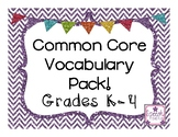 Common Core Vocabulary Grades K-4