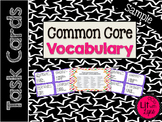 Common Core Vocabulary Task Card Sample