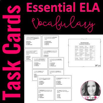 Essential ELA Vocabulary Task Cards