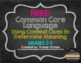 Free Download Common Core Vocabulary: Using Context Clues