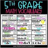 Common Core Math Vocabulary Word Wall: 5th Grade