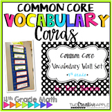 4th Grade Math Vocabulary Cards