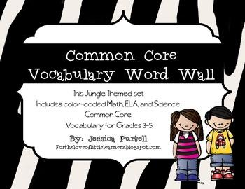 Common Core Vocabulary Word Wall Grades 3-5: ELA, Math & S