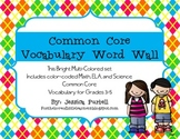 Common Core Vocabulary Word Wall Grades 3-5: ELA, Math & S