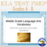 TEST PREP Common Core Vocabulary for Middle Grades PowerPoint
