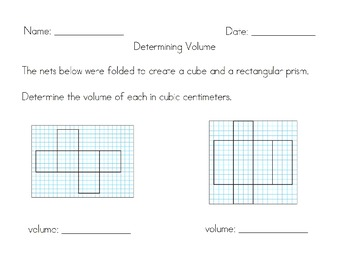 Common Core Volume - How Many Cubic Centimeters?