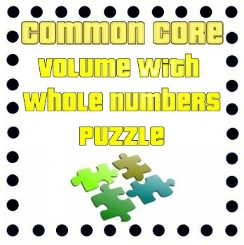 Common Core - Volume Puzzle - Rectangular Prisms with Whole Number Edge Lengths