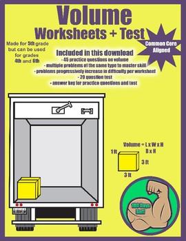 Volume Worksheets + Tests
