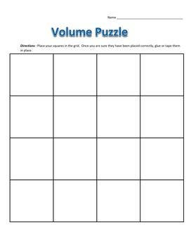 Common Core - Volume of Rectangular Prisms Puzzle - Math Fun!