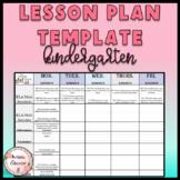 Common Core Weekly Kindergarten Lesson Plans