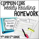 Reading Homework (4th and 5th Grade Reading Review BUNDLE