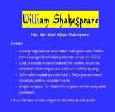Common Core & William Shakespeare: Poetry and Reading Info