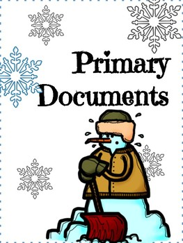 Winter Primary Documents Lesson