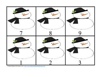 Common Core Winter Multiplication Flip It Connect 4