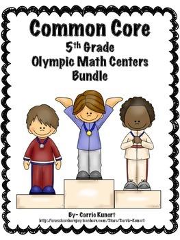 Winter Sports 5th Grade Math Centers Bundle (Common Core )