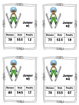 Winter Sports Ski Jumping with Decimal Addition and Subtraction (Common Core)