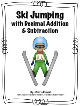 Winter Sports Ski Jumping with Decimal Addition and Subtra