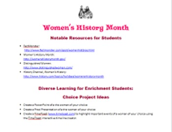 Women's History Month Informational Poster & Rubric {CCSS Aligned}