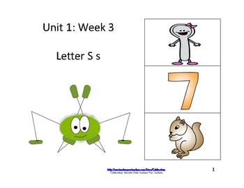Reading Groups: Unit 1, Week 3:  Letter S